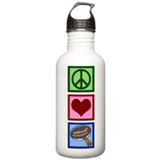 Peace Love Bacon Water Bottle