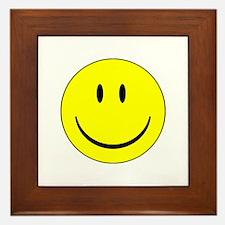 big smiley face Framed Tile