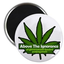 "Above the Ignorace 2.25"" Magnet (100 pack"