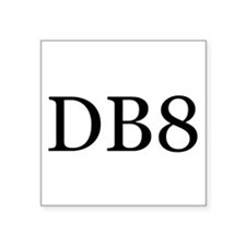 "DB8 Square Sticker 3"" x 3"""