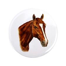 """Chestnut Horse 3.5"""" Button"""