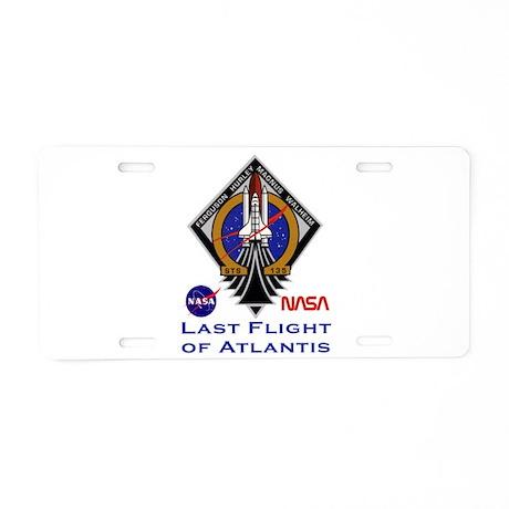 Last Flight of Atlantis Aluminum License Plate