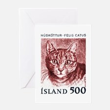 Iceland 1982 Domestic Cat Postage Stamp Greeting C