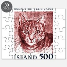 Iceland 1982 Domestic Cat Postage Stamp Puzzle