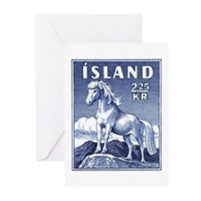 Iceland 1958 Icelandic Horse Postage Stamp Greetin