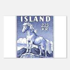 Iceland 1958 Icelandic Horse Postage Stamp Postcar