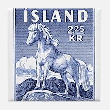 Iceland 1958 Icelandic Horse Postage Stamp Tile Co