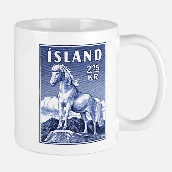 Iceland 1958 Icelandic Horse Postage Stamp Mug