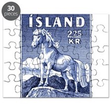 Iceland 1958 Icelandic Horse Postage Stamp Puzzle