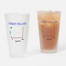 I WONT MILLION Drinking Glass