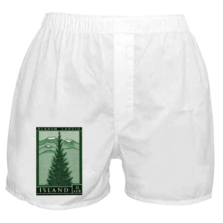 1957 Iceland Spruce with Volcanoes Stamp Boxer Sho