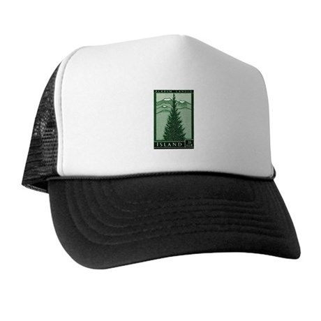 1957 Iceland Spruce with Volcanoes Stamp Trucker H