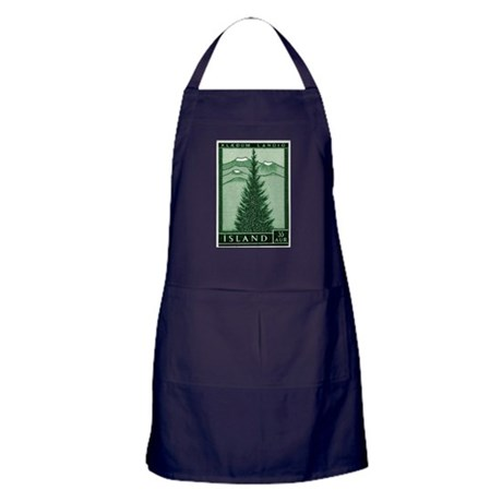 1957 Iceland Spruce with Volcanoes Stamp Apron (da