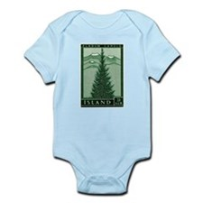 1957 Iceland Spruce with Volcanoes Stamp Infant Bo