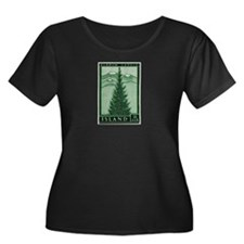 1957 Iceland Spruce with Volcanoes Stamp T