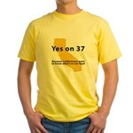 Yes on 37 - Yellow T-Shirt