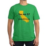 Yes on 37 - Men's Fitted T-Shirt (dark)