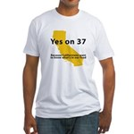 Yes on 37 - Fitted T-Shirt