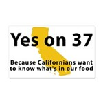 Yes on 37 - Car Magnet 20 x 12