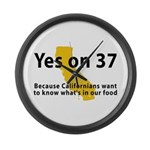 Yes on 37 - Large Wall Clock