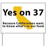 Yes on 37 - Yard Sign