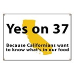 Yes on 37 - Banner