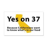 Yes on 37 - 20x12 Wall Decal