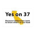Yes on 37 - 35x21 Wall Decal