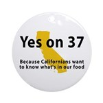 Yes on 37 - Ornament (Round)
