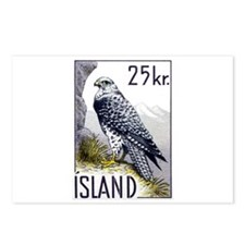 1960 Gyrfalcon Bird Postage Stamp Postcards (Packa