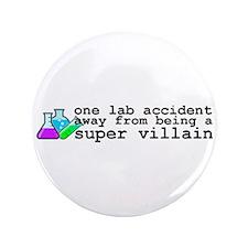 """Lab Accident Super Villain 3.5"""" Button"""