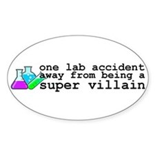 Lab Accident Super Villain Decal