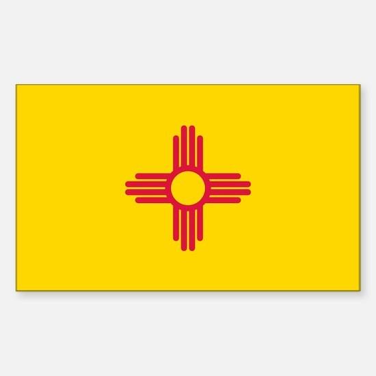 New Mexico flag Sticker (Rectangle)