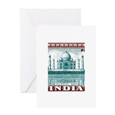 1940 India Taj Mahal Postage Stamp Greeting Card