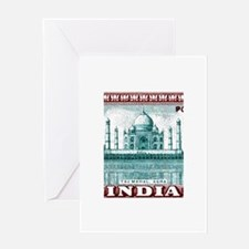 1940 India Taj Mahal Postage Stamp Greeting Card