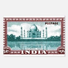 1940 India Taj Mahal Postage Stamp Postcards (Pack
