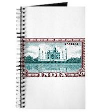 1940 India Taj Mahal Postage Stamp Journal