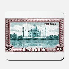 1940 India Taj Mahal Postage Stamp Mousepad