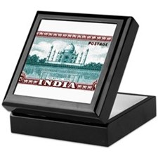 1940 India Taj Mahal Postage Stamp Keepsake Box