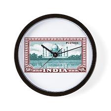 1940 India Taj Mahal Postage Stamp Wall Clock