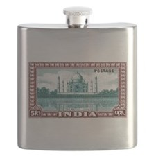 1940 India Taj Mahal Postage Stamp Flask