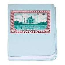 1940 India Taj Mahal Postage Stamp baby blanket