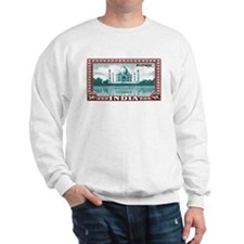 1940 India Taj Mahal Postage Stamp Sweatshirt