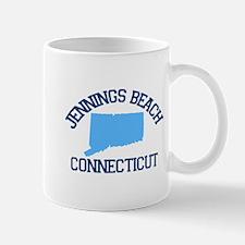 Jennings Beach CT - Map Design. Mug