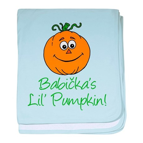Babickas Little Pumpkin baby blanket