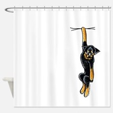 Clingy Rottie Shower Curtain