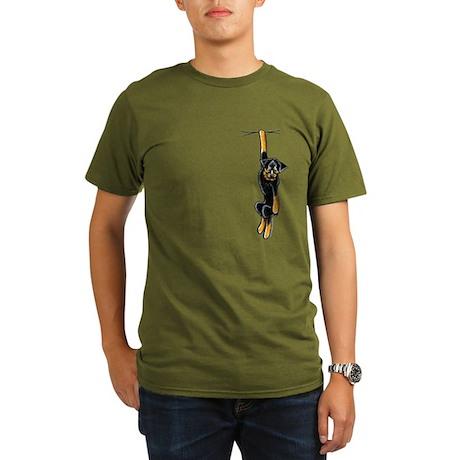 Clingy Rottie Organic Men's T-Shirt (dark)