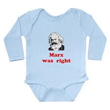 Marx was right #3 Long Sleeve Infant Bodysuit
