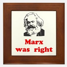 Marx was right #3 Framed Tile