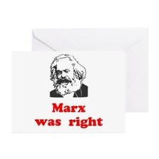 Marx was right #3 Greeting Cards (Pk of 20)